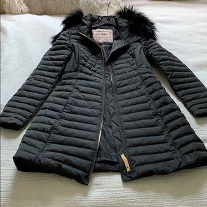 Hunter long puffer coat